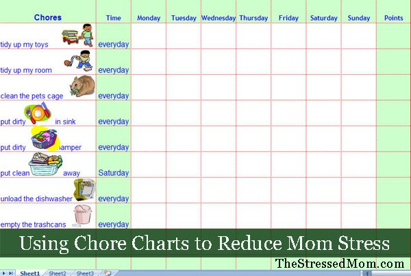 Using Chore Charts To Reduce Mom Stress | The Stressed Mom